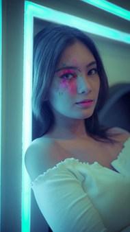 亚洲时尚彩妆人体模特图片