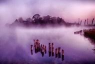 乡村雾气仙境风景图片下载