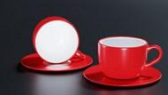 红色陶瓷咖啡杯图片大全