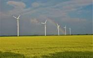 平原電力風車景觀圖片素材