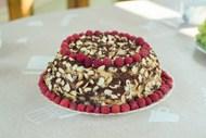 覆盆子水果蛋糕高清图片
