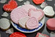 粉色心形小饼干图片大全