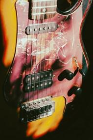 复古电吉他局部特写精美图片