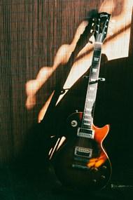 一把棕色Stratocaster电吉他图片