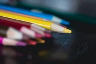 彩色铅笔特写写真高清图片