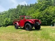 草地上的红色吉普车图片