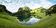 春天绿色山水风景图片大全