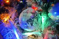 圣诞夜晚装饰物精美图片