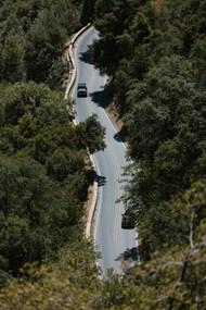 森林里行驶的汽车图片下载
