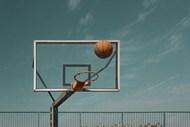 篮球和篮球框图片大全