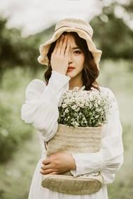 甜美小清新美女摄影高清图片