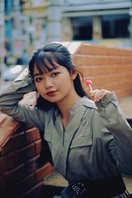 亚洲衬衫连衣裙美女图片素材