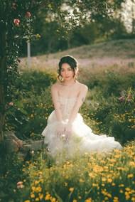 小清新治愈系婚纱写真高清图片
