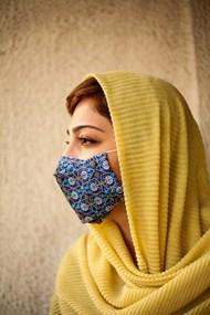 戴口罩的阿富汗美女图片