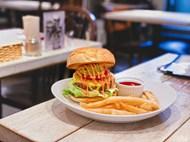 素食汉堡快餐图片下载