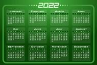 2022年日历图片素材