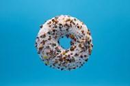 油炸甜甜圈背景精美图片
