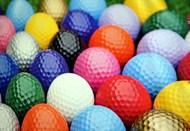 彩色高尔夫球高清图片