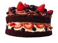 巧克力草莓夹心蛋糕图片大全