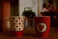 两个情侣杯图片素材