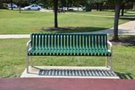 公园休闲长靠椅图片素材