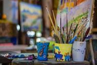 水彩绘画笔精美图片