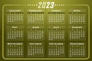 2023年全年日历精美图片