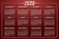 2025年日历图片素材