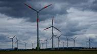 风能旋转风车图片素材