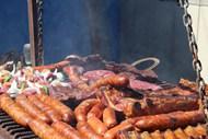 烤香肠烤肉图片素材