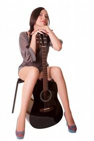 极品性感吉他美女人体摄影精美图片