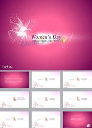三八妇女节背景模板下载ppt模板