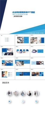 企业项目管理系统ppt图下载