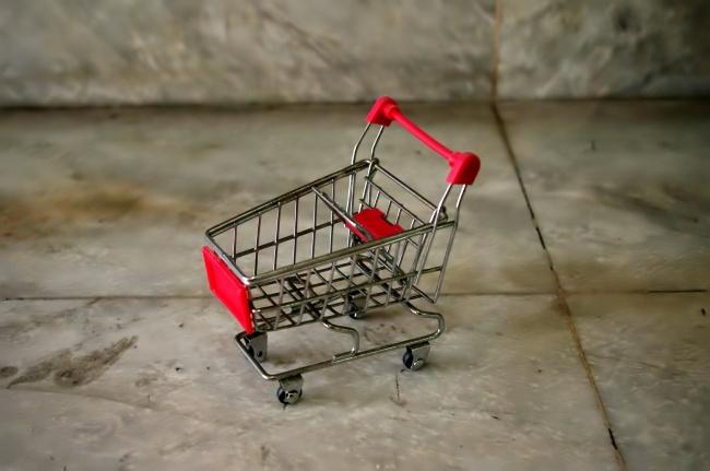 手推超市购物车精美图片