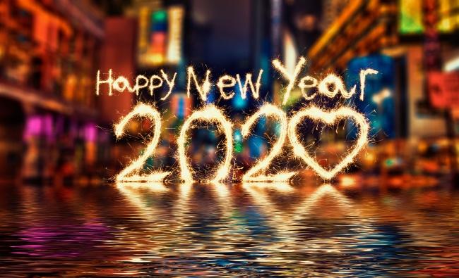 2020新年快乐背景图片素材
