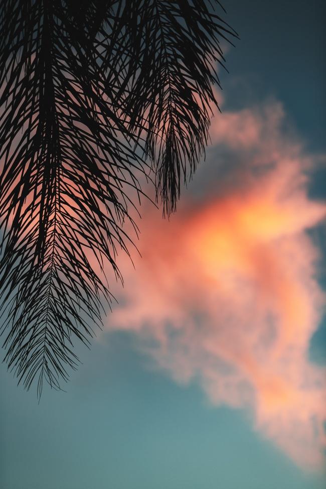 唯美黄昏云朵风景高清图片