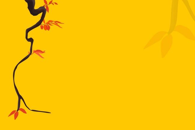 中国风黄色PPT背景高清图