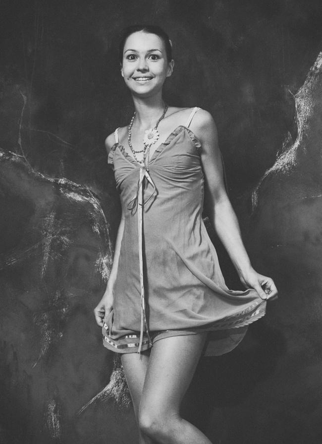 黑白美女模特人体摄影图片素材