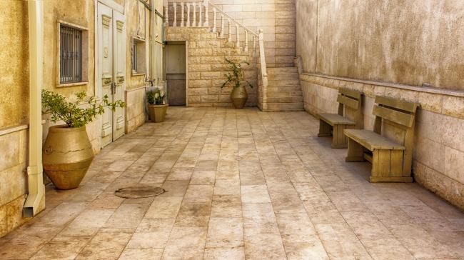 老式庭院装修效果图图片素材