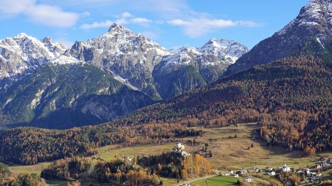 阿尔卑斯山地景观图片下载