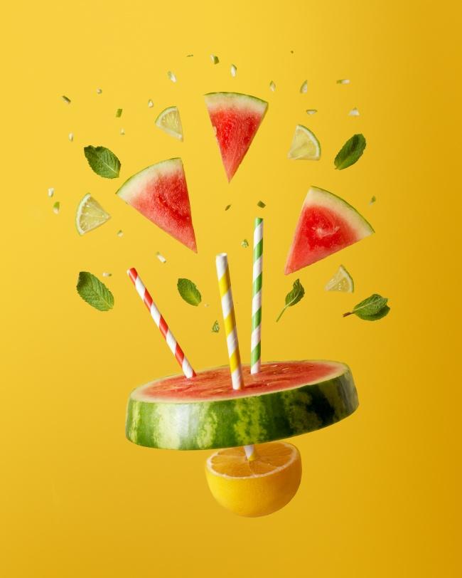 动感创意西瓜图片