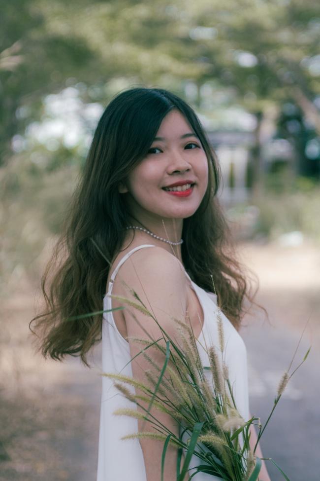 中国清纯女生图片素材