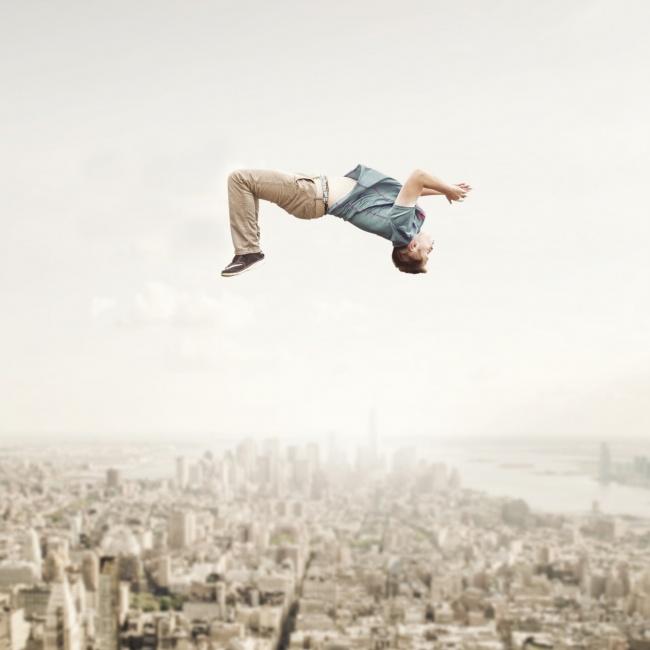 创意另类高空人物写真图片大全