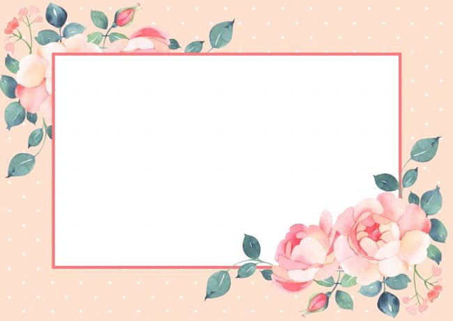 玫瑰装饰边框背景高清图片