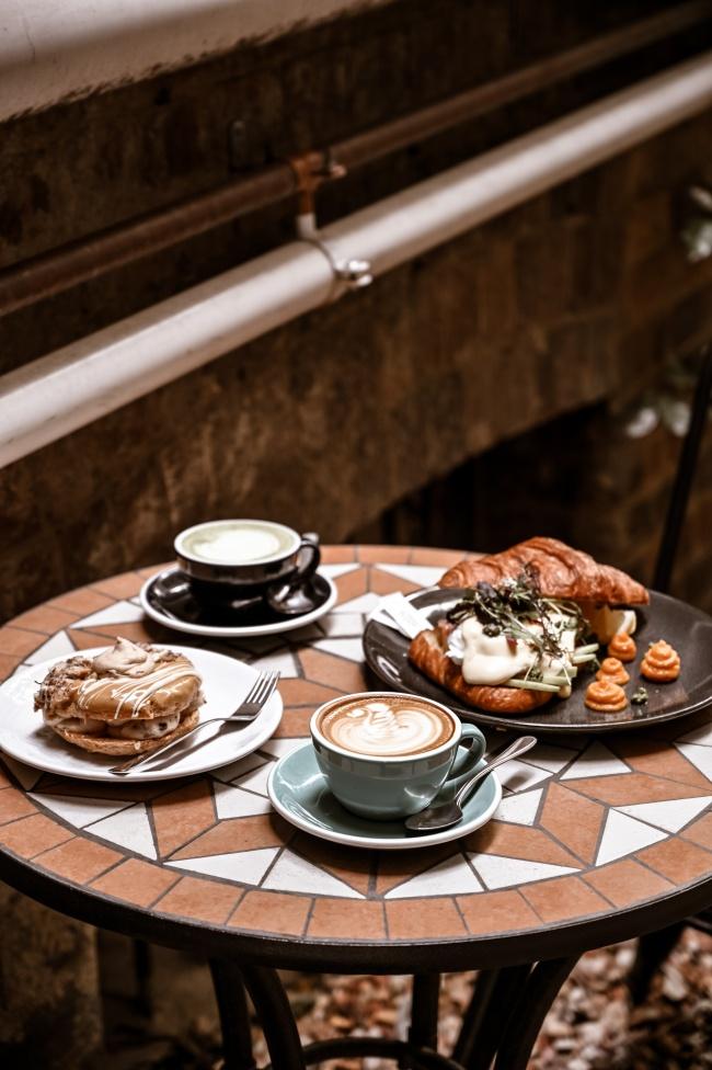 咖啡面包美食写真图片