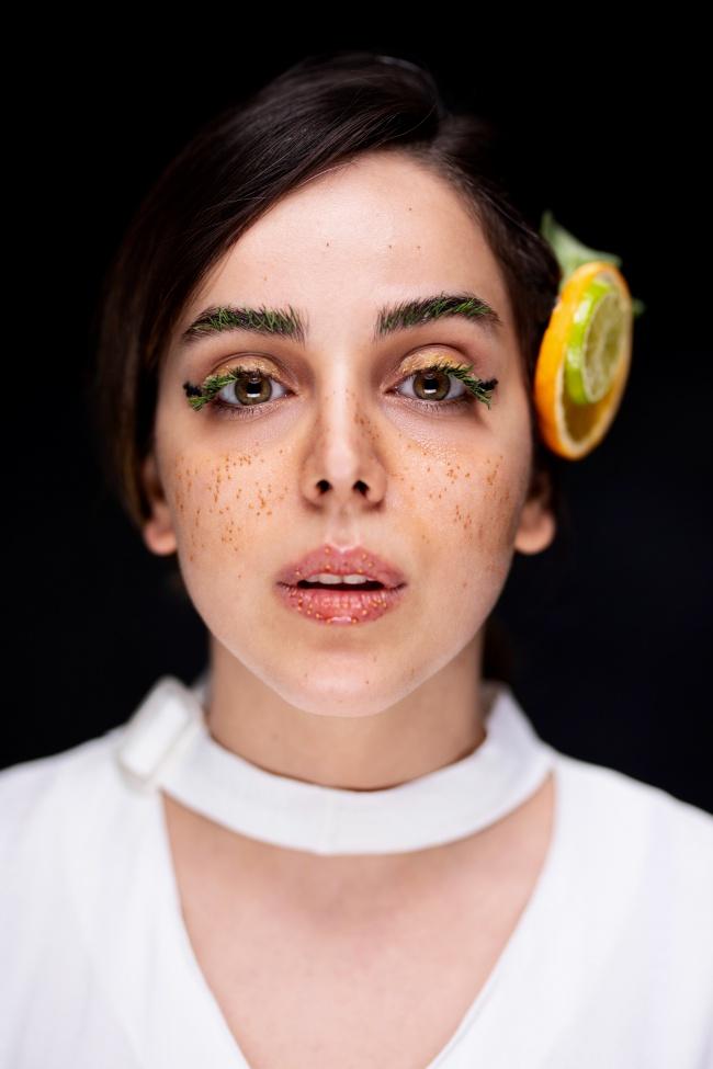 欧美时尚雀斑妆美女摄影精美图片