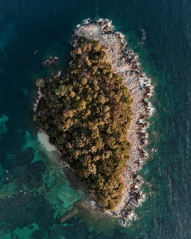 大海群岛鸟瞰图图片下载