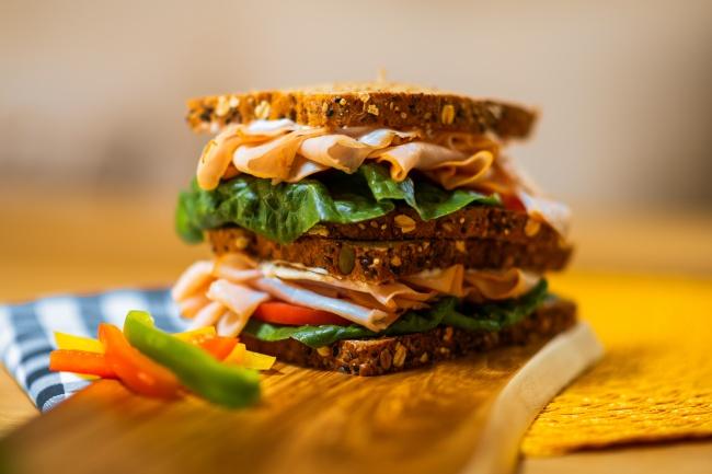 自制素食汉堡图片下载