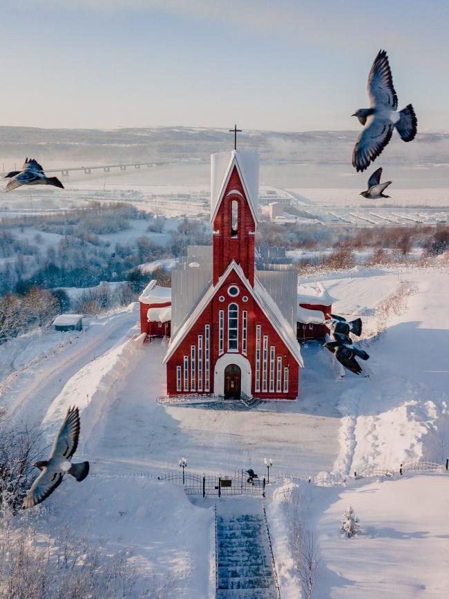 冬季外国建筑风景图片下载