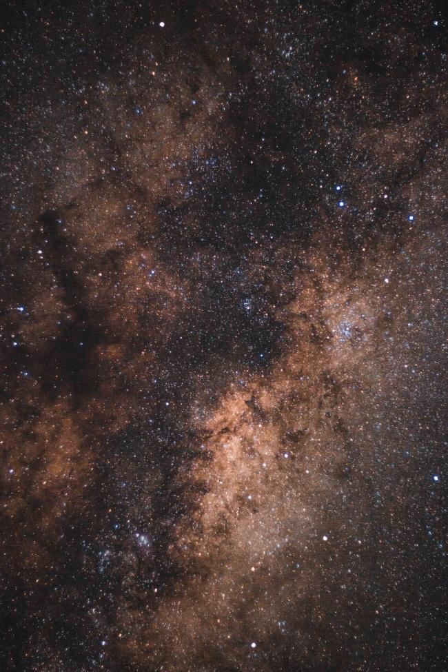 星光璀璨夜空高清图片